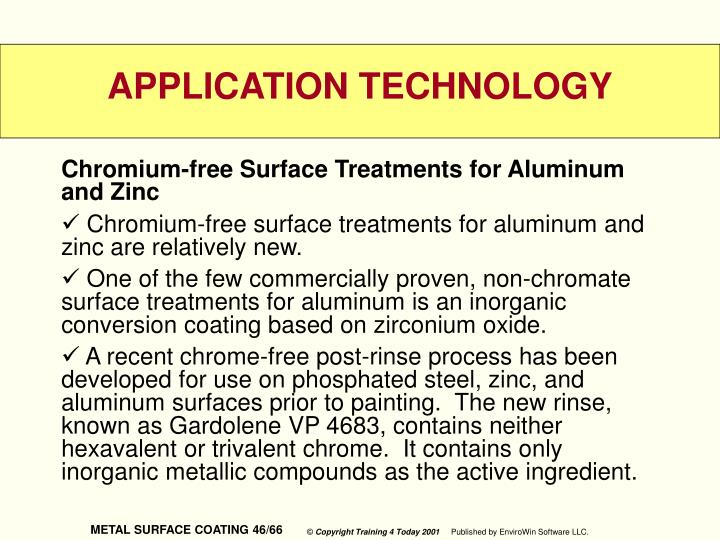 Chromium-free Surface Treatments for Aluminum and Zinc