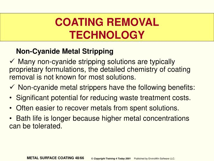 Non-Cyanide Metal Stripping