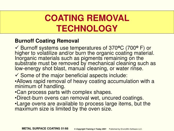 Burnoff Coating Removal