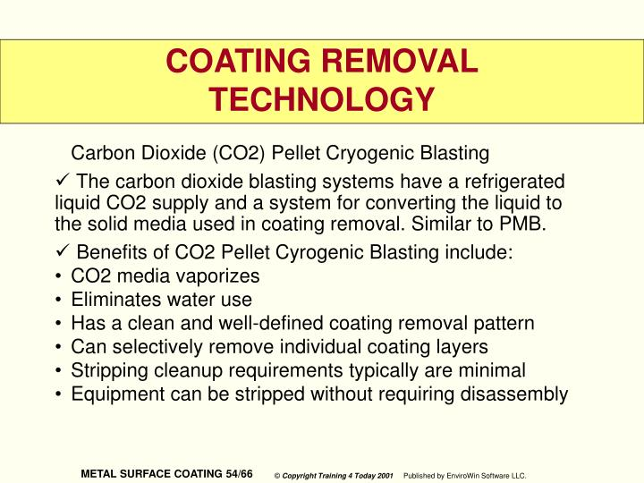 Carbon Dioxide (CO2) Pellet Cryogenic Blasting