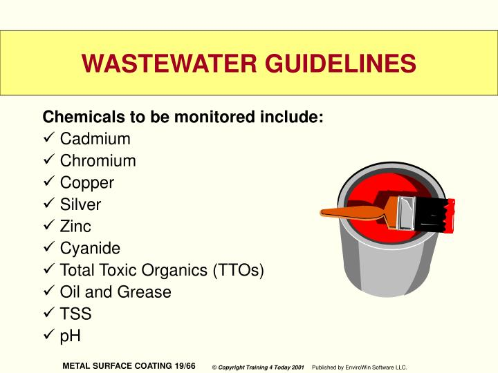 Chemicals to be monitored include: