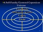 a self family centered copernican universe