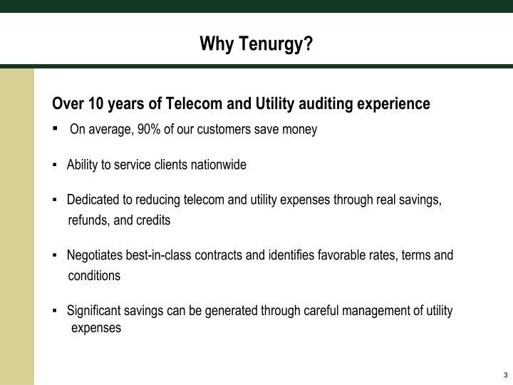 Why Tenurgy?