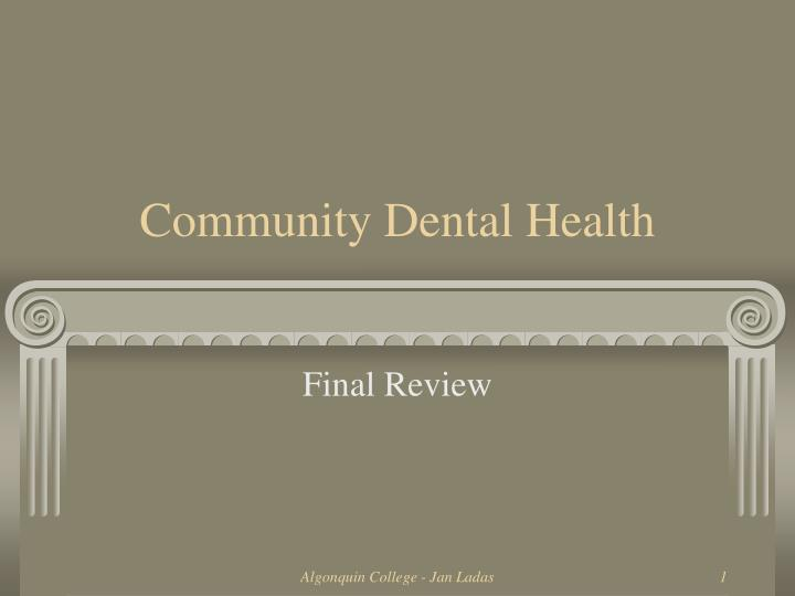 Community dental health