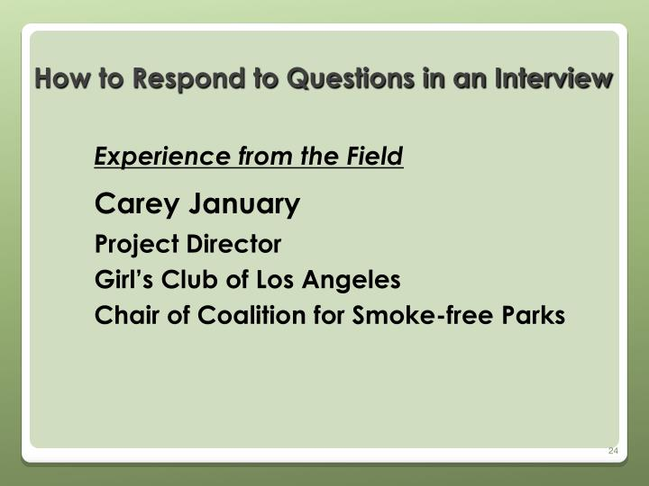 How to Respond to Questions in an Interview