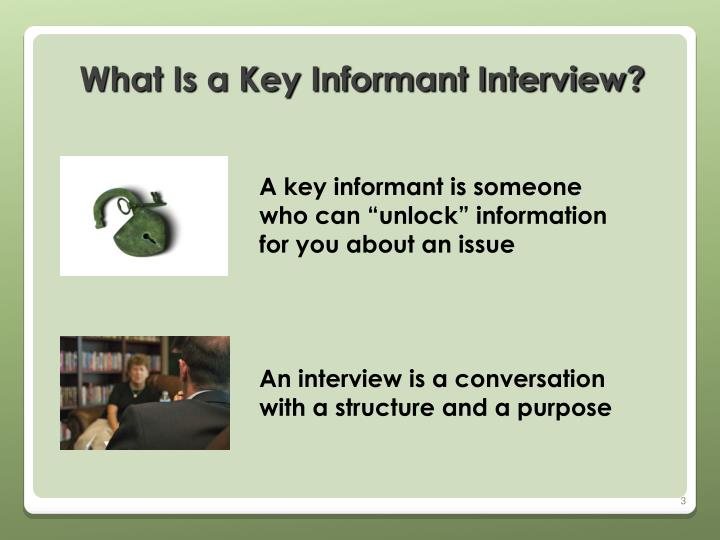 What Is a Key Informant Interview?