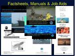 factsheets manuals job aids