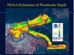 noaa estimation of floodwater depth