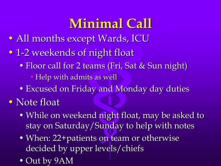 Minimal Call