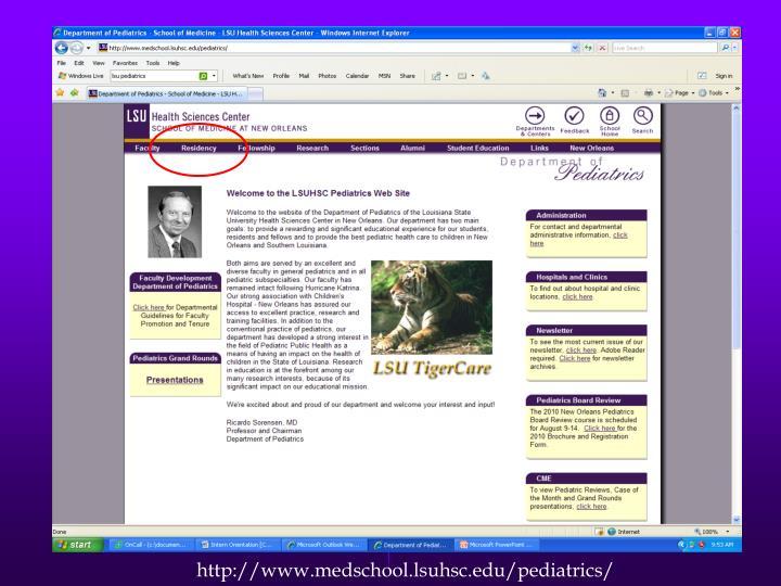 http://www.medschool.lsuhsc.edu/pediatrics/
