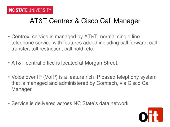AT&T Centrex & Cisco Call Manager