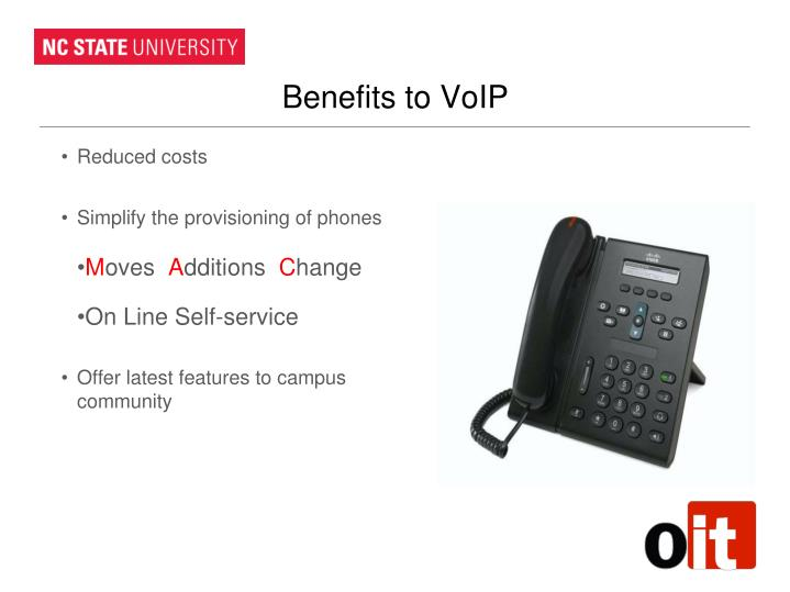 Benefits to VoIP