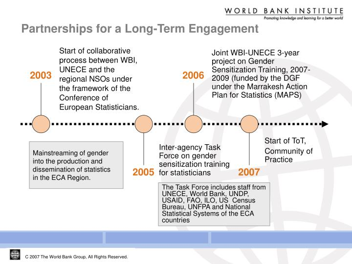 Partnerships for a long term engagement