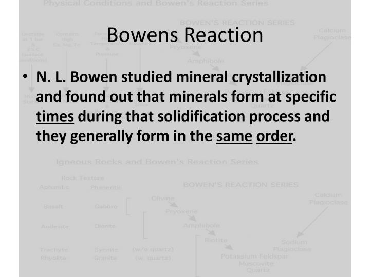 Bowens Reaction