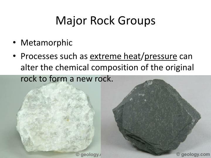 Major Rock Groups