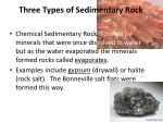 three types of sedimentary r ock