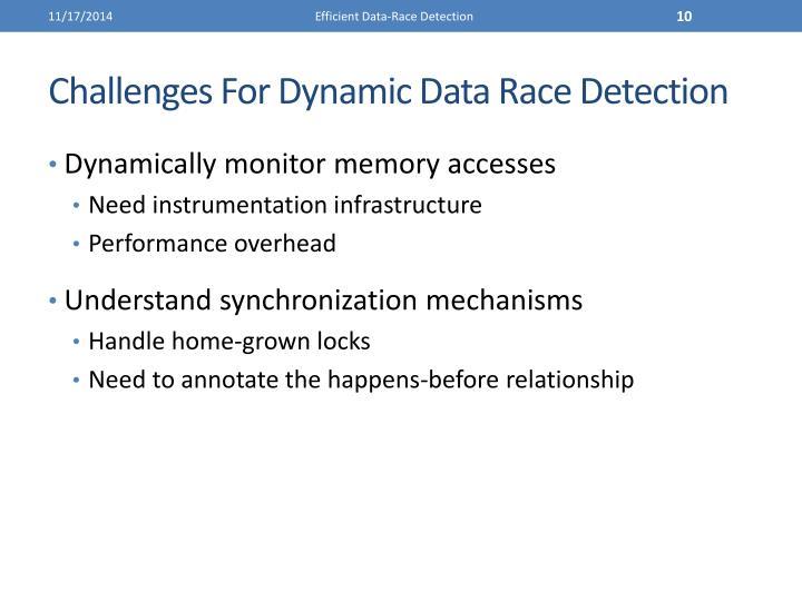 Efficient Data-Race Detection