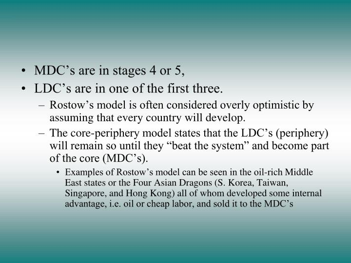 MDC's are in stages 4 or 5,