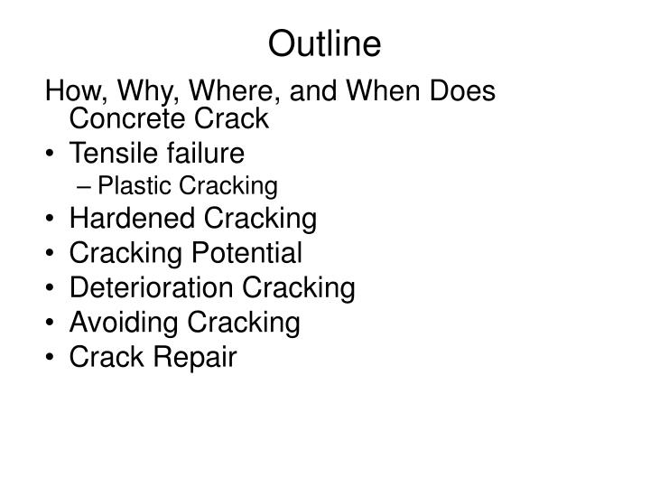 How, Why, Where, and When Does Concrete Crack