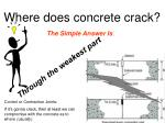 where does concrete crack