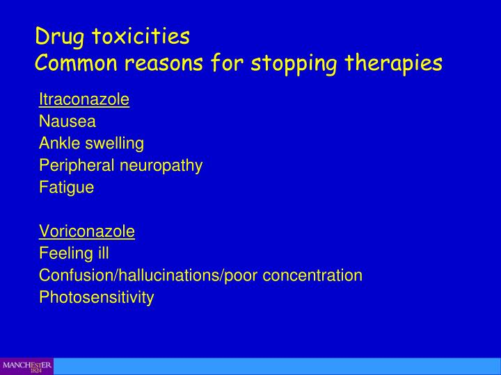 Drug toxicities