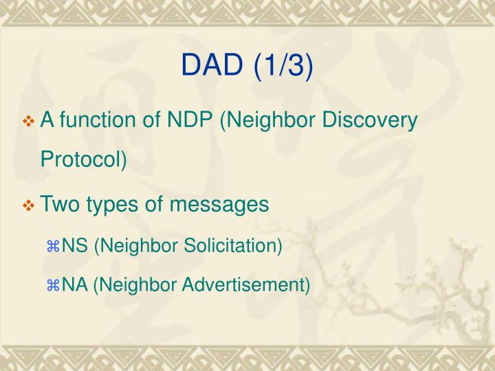 DAD (1/3)