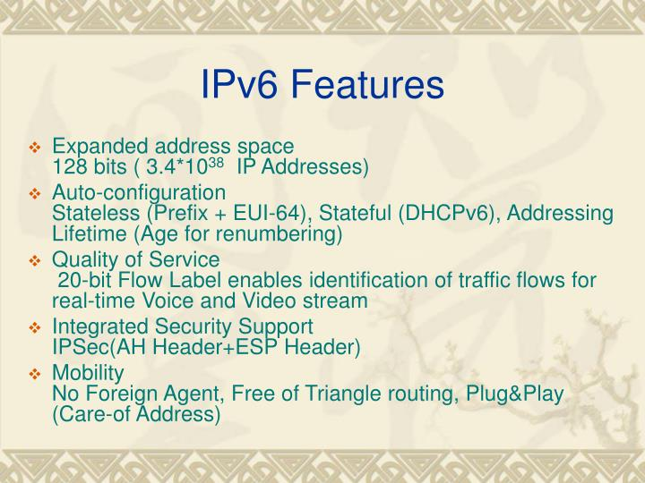 IPv6 Features