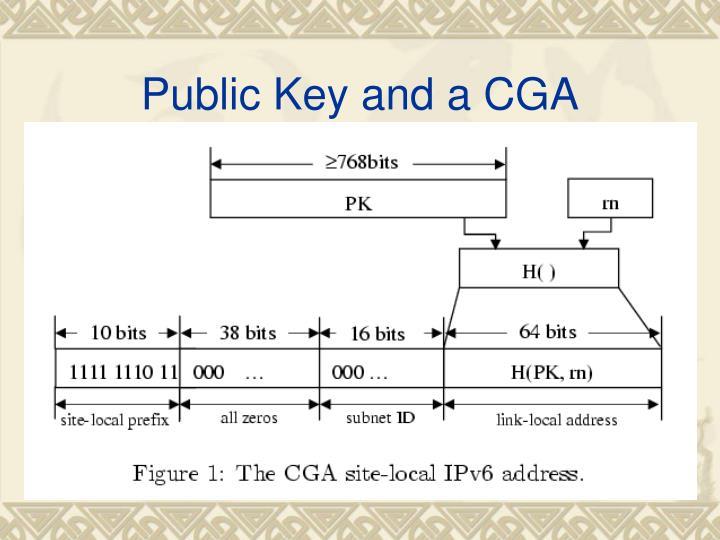Public Key and a CGA