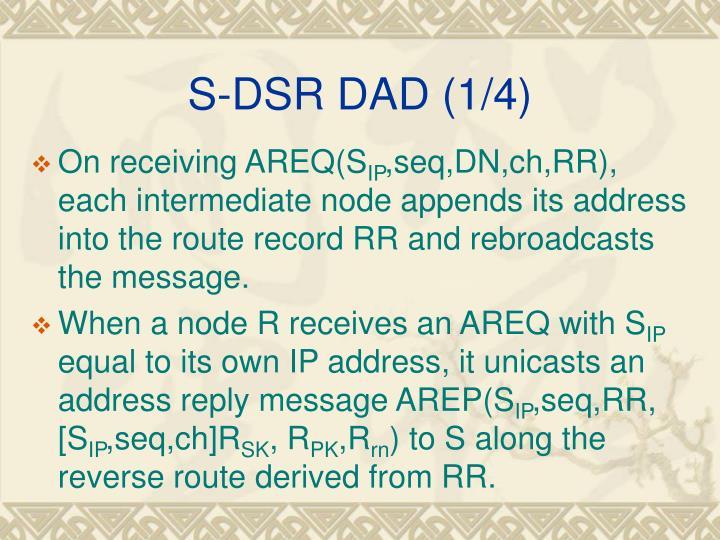 S-DSR DAD (1/4)