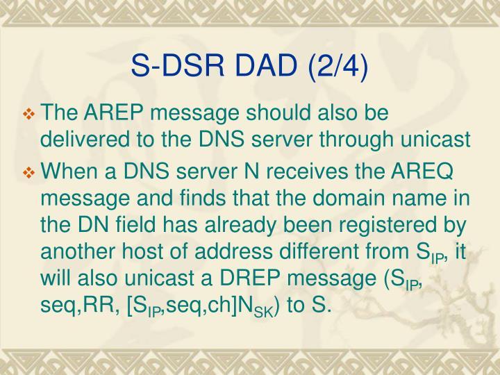 S-DSR DAD (2/4)