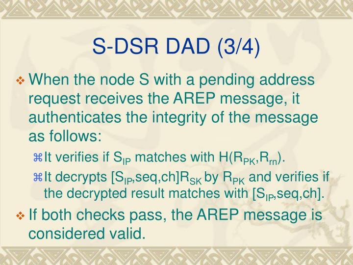 S-DSR DAD (3/4)