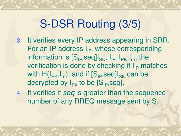 S-DSR Routing (3/5)
