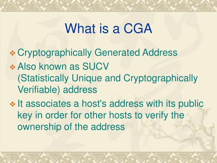 What is a CGA