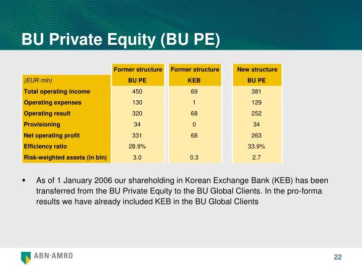 BU Private Equity (BU PE)