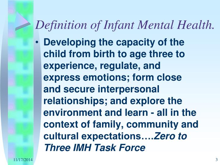 Definition of infant mental health
