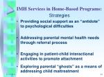 imh services in home based programs