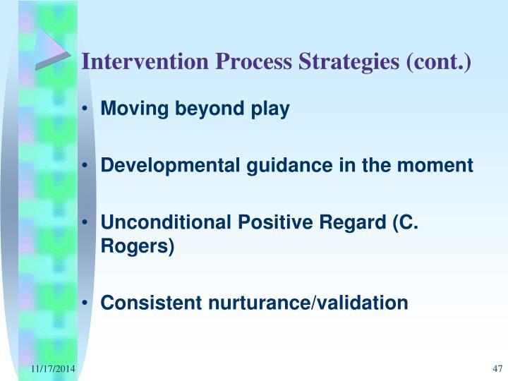 Intervention Process Strategies (cont.)