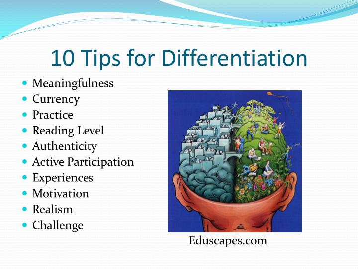 10 Tips for Differentiation