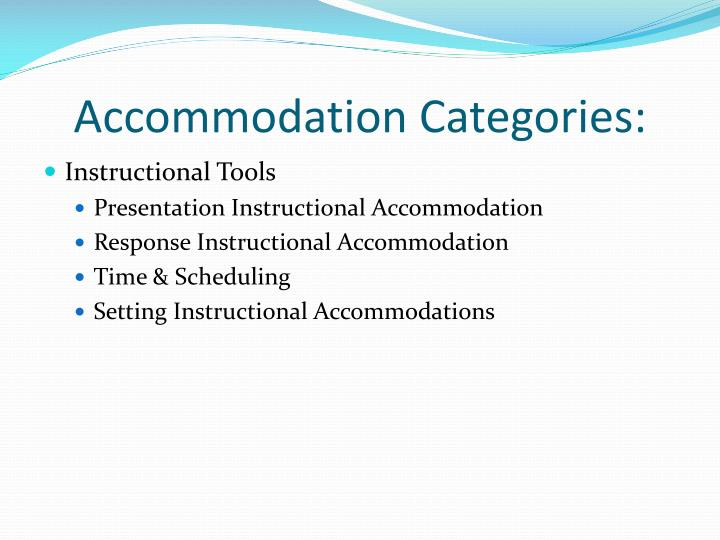 Accommodation Categories: