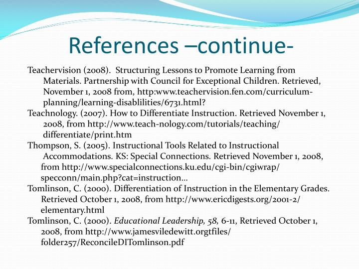 References –continue-