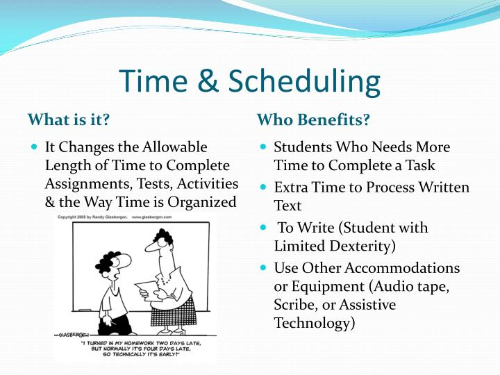 Time & Scheduling