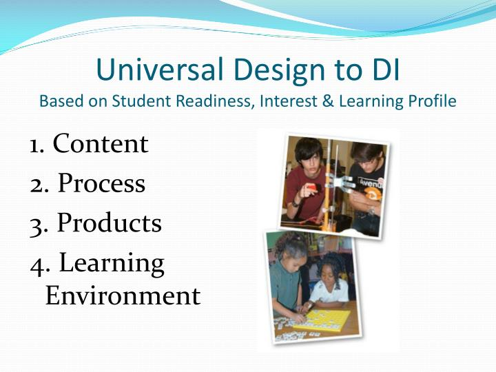 Universal Design to DI