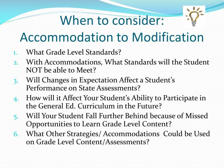 When to consider: