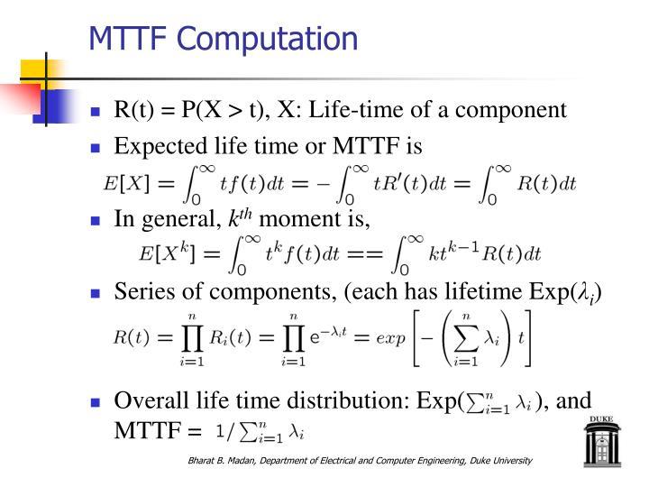 MTTF Computation