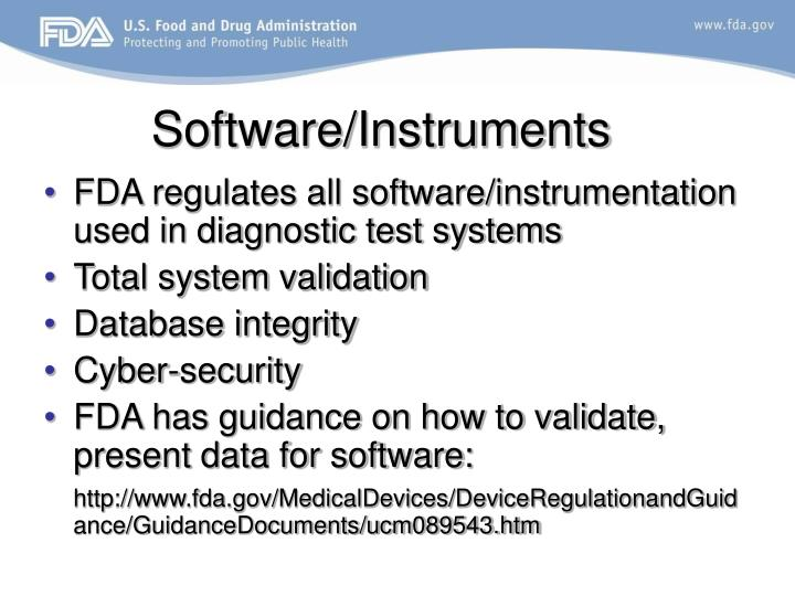 Software/Instruments
