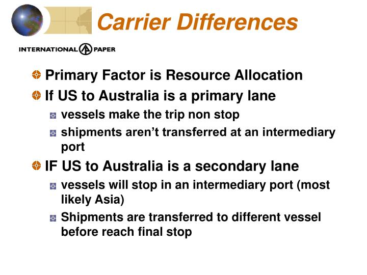 Carrier Differences