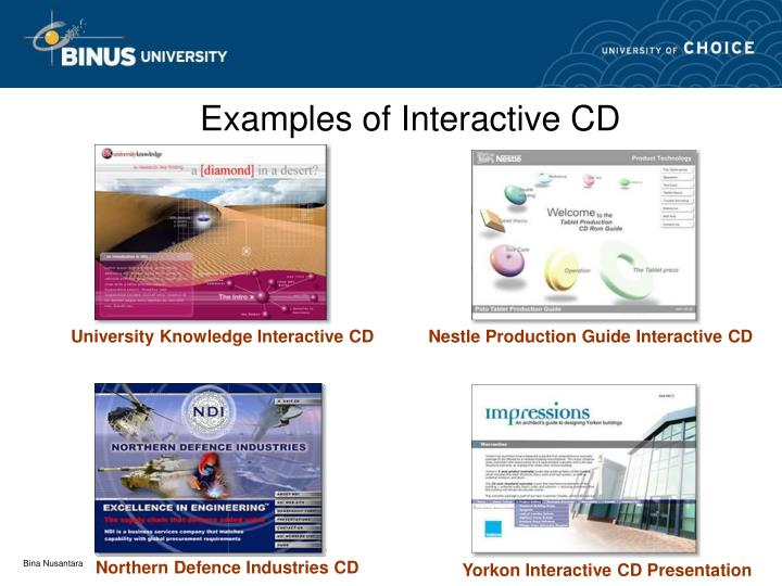 Examples of Interactive CD