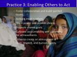 practice 3 enabling others to act