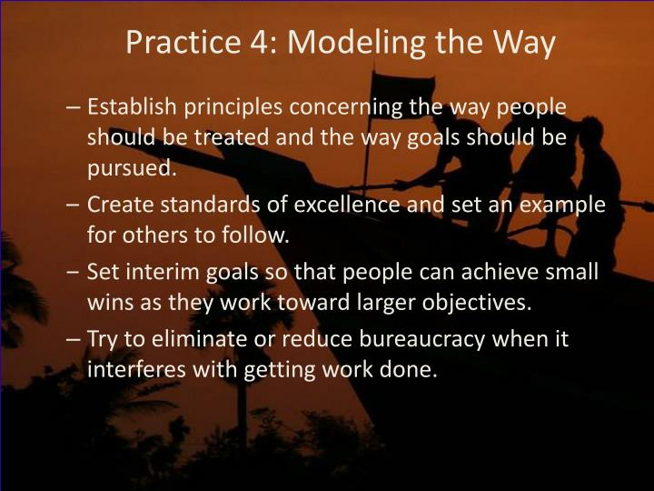 Practice 4: Modeling the Way