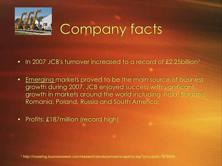 Company facts